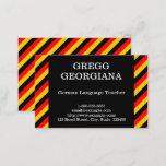[ Thumbnail: German Language Teacher Business Card ]