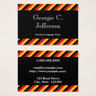 tutor business cards templates zazzle. Black Bedroom Furniture Sets. Home Design Ideas