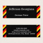 German Language Tutor Business Card