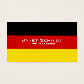 German Lessons / German Teacher With German Flag Business Card