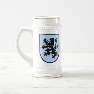 German Lion (black on blue) stein