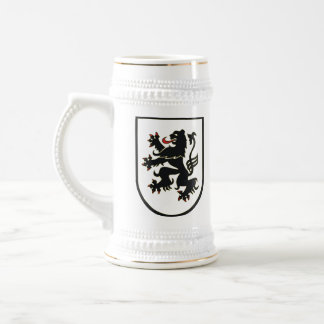 German Lion (black on white) stein