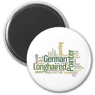 German Longhaired Pointer 2 Inch Round Magnet