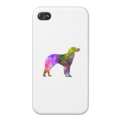 German Longhaired Pointer in watercolor iPhone 4 Case