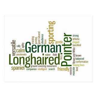 German Longhaired Pointer Postcard