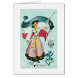 German Maiden - Early 1900's Greeting Card