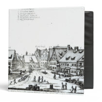 German Market town, 1704 3 Ring Binder