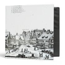 German Market town, 1704 3 Ring Binder