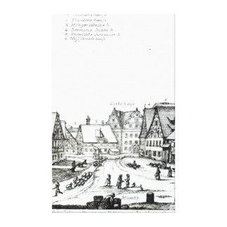 German Market town, 1704 Canvas Print