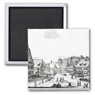 German Market town, 1704 Magnet