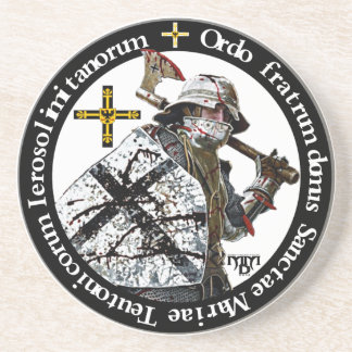 German medal knight with axe reductor drink coaster