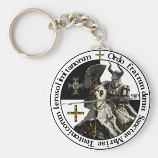 German medal knight with lance key supporter keychain