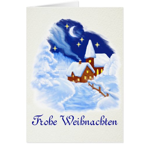 German Merry Christmas Greeting Card  Zazzle