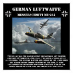 German Messerschmitt ME-262 Jet - World War II Poster