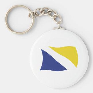 German Minority of Northern Schleswig Flag Keychai Basic Round Button Keychain