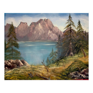 german mountains oil painting poster print