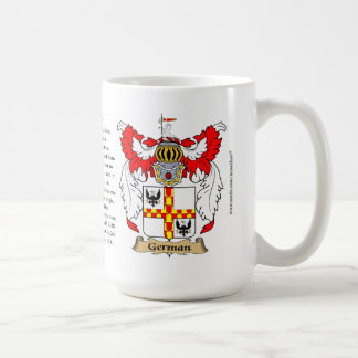 German name, the Origin, the Meaning and the Crest Coffee Mug