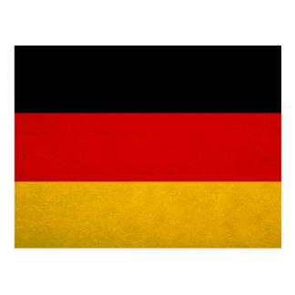 German national flag postcard