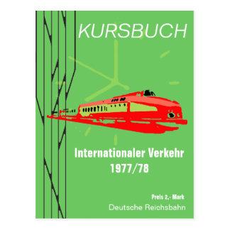 German National Railroad timetable Design Postcard