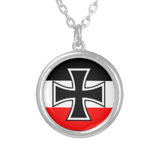 German Navy Jack Silver Plated Necklace