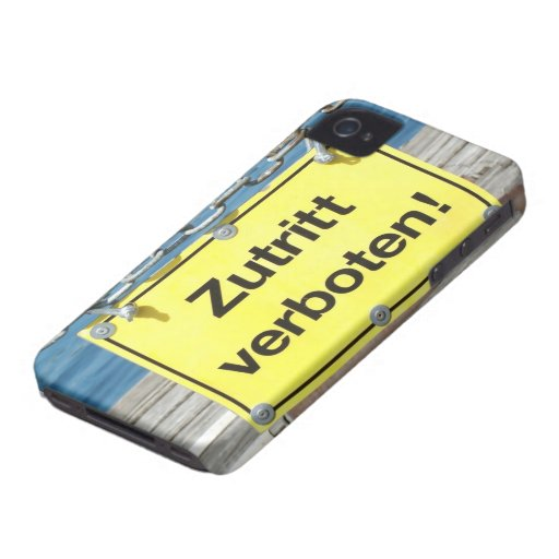 """German """"No Entry"""" Sign - iPhone 4/4S Case iPhone 4 Covers"""