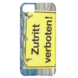"German ""No Entry"" Sign - iPhone 5 Case"