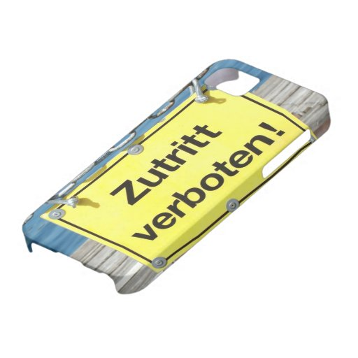 """German """"No Entry"""" Sign - iPhone 5 Case iPhone 5 Case"""