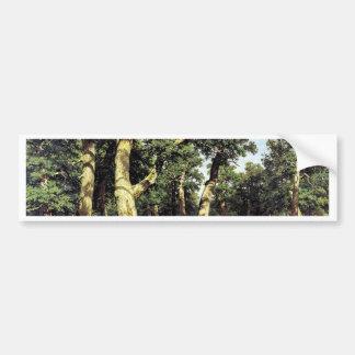 German Oaks Evening By Schischkin Iwan Iwanowitsch Bumper Sticker