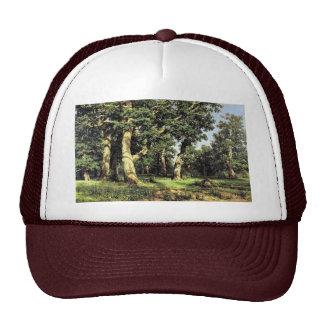 German Oaks Evening By Schischkin Iwan Iwanowitsch Mesh Hats