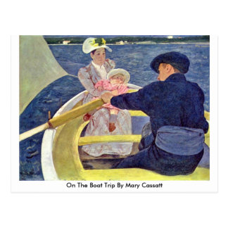 German On The Boat Trip By Mary Cassatt Post Cards