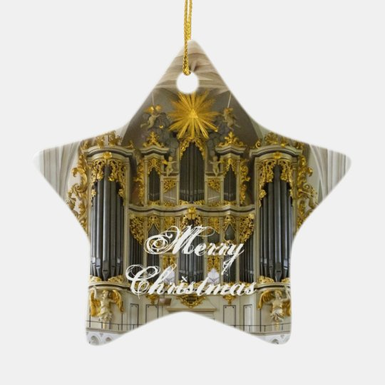 German organ Christmas ornament