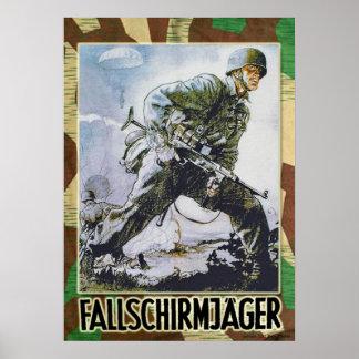 German paracaidista póster