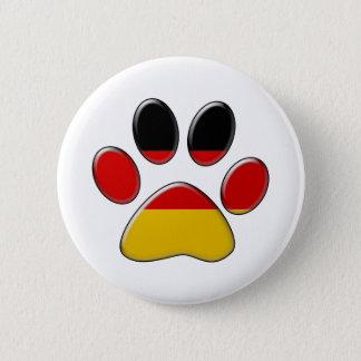 German patriotic cat pinback button