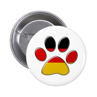 German patriotic cat pinback button