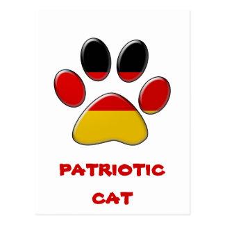 German patriotic cat postcard