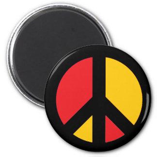 German Peace Symbol 2 Inch Round Magnet