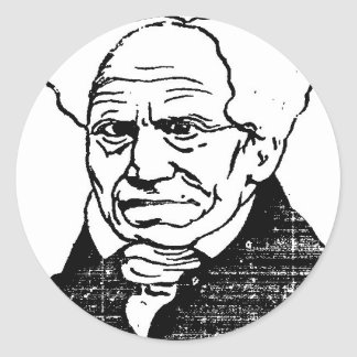 German philosopher Arthur Schopenhauer by Felix Classic Round Sticker