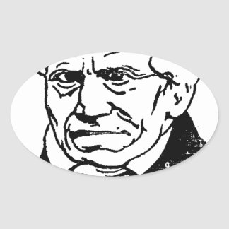 German philosopher Arthur Schopenhauer by Felix Oval Sticker