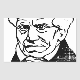 German philosopher Arthur Schopenhauer by Felix Rectangular Sticker