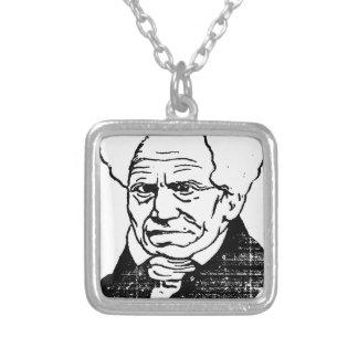 German philosopher Arthur Schopenhauer by Felix Silver Plated Necklace