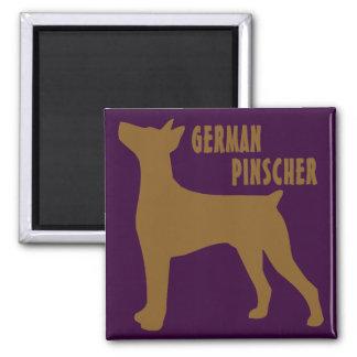 German Pinscher 2 Inch Square Magnet