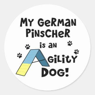 German Pinscher Agility Dog Classic Round Sticker
