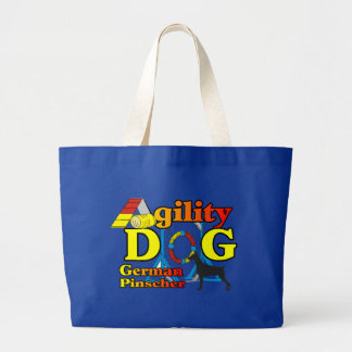German Pinscher Agility Gifts Large Tote Bag
