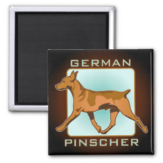 German Pinscher Badge, square 2 Inch Square Magnet