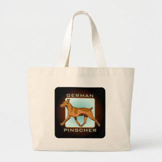 German Pinscher Badge, square Canvas Bag