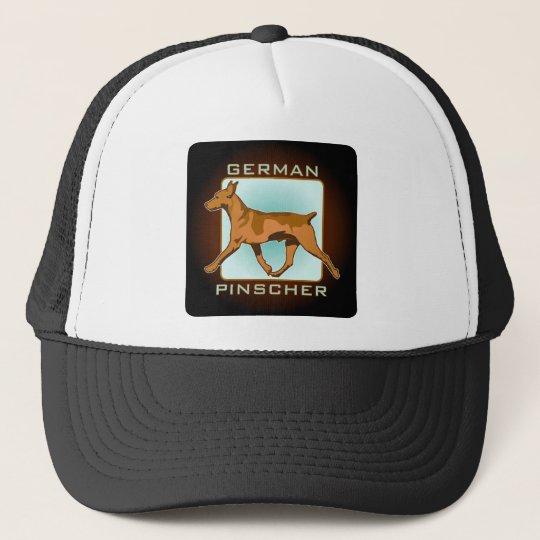 German Pinscher Badge, square Trucker Hat