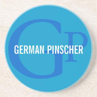German Pinscher Breed Monogram Coaster