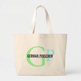 German Pinscher Breed Monogram Jumbo Tote Bag