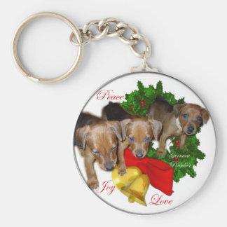 German Pinscher Christmas Gifts Keychain