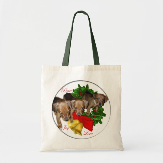 German Pinscher Christmas Gifts Tote Bag